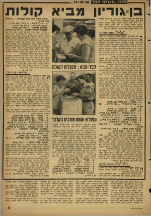 העולם הזה - גליון 1147 - 23 בספטמבר 1959 - עמוד 7 | בן־גוריון הבטיח לעולים החדשים, שבאו בהמוניהם לאסיפה, הבטחות רבות: העלאת יהודים מארצות־האיסלאם, הקנית מקצועות יצרניים לצעירים חסרי־מקצוע, מתן דירות מרוזחות