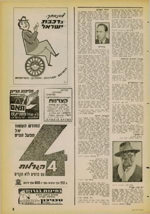 העולם הזה - גליון 1258 - 18 באוקטובר 1961 - עמוד 3   מדברי בז־שיחי הבנתי שהוא רואה בציונות ובאנטי־שמיות שני צדדים של בעיה אחת, שבל אחת מהן מסבירה את רעותה.
