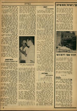 העולם הזה - גליון 1352 - 7 באוגוסט 1963 - עמוד 7 | סור בישראל,והוא שילם היקף הבניין הנבנה על־ידי רסקו• כי במגרש הפינתי לא החלו בבניתה של חווילה או בית־מגורים קטן, אלא בבניית בית־מידות בקנה מידה אמריקאי. פרט