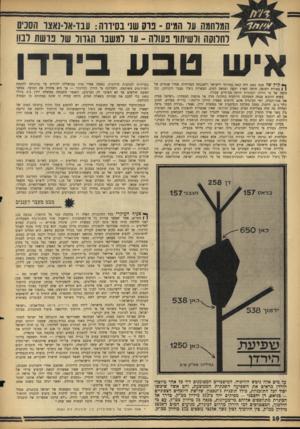 העולם הזה - גליון 1428 - 20 בינואר 1965 - עמוד 10 | הפטרונית הבינלאומית של תוכנית זו היתד, ממשלת בריטניה, שלחמה את מלחמת ירדן באו״ם. … החלטה זו הוגדרה על־ידי ירדן כ״תוקפנות יהודית מסוג חדש״ ,מאחר שהיא לוקחת