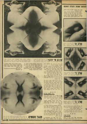 העולם הזה - גליון 1520 - 19 באוקטובר 1966 - עמוד 21   לפולמוס אמ1ותי, ולעילה למשכם שבות בכלל לאמנות? האם הן ראויות להיות מוצגות במוזיאון? רבים מודים כי התמונות מקוריות מאוד ומושכות את העין, אך האם הן אומנות? ניימן
