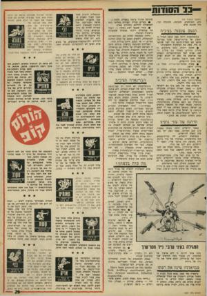 העולם הזה - גליון 1601 - 8 במאי 1968 - עמוד 29 | 11 הסודות (המשך מעמוד )25 תים, התותחנים, ההנדסה, התובלה וכו׳, היה 25,699 איש. הנ ש\2 ב צי בי ה צ׳כוסלובקיה היתד, ספק הנשק הגדול הראשון של מדינת־ישראל. אהוד