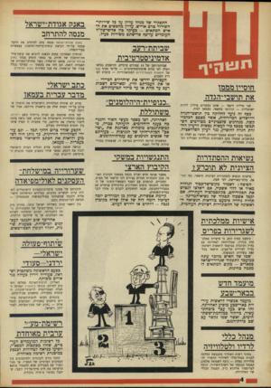 העולם הזה - גליון 1607 - 19 ביוני 1968 - עמוד 4   בין השאר הגיב בשלילה ישראל קיסר, מחזיק תיק הפועל בוועד־הפועל של ההסתדרות.