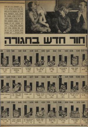 העולם הזה - גליון 1724 - 16 בספטמבר 1970 - עמוד 16 | ה 1-לספטמבר היה יום שחור לכל עקרת-בית בישראל. עליית המחירים, ששעטה עד אז בקצב מדאיג בלבד התפוצצה ביום זה לדהירת אמוק, פוצצה יחד עימה את שרידי עיסקת החבי- לה ז