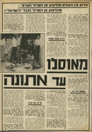 העולם הזה - גליון 1875 - 8 באוגוסט 1973 - עמוד 17 | אין זה עניין של מחדל הסברתי׳ וגם לא של אנטי־שמיות. … בין ההסברים שהועלו: • העולם הוא אנטי־שמי, ומתנכל לישראל וליהודים; • זהו מחדל הסברתי ישראלי. … מחדל זה