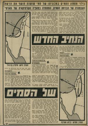 העולם הזה - גליון 1937 - 16 באוקטובר 1974 - עמוד 29 | כי המישטרה עוקבת ללא הרף אחר כל מי שעוסק בסחר סמים בישראל, ויודעת כל מה שמתרחש בעסק זה. … כאשר לוכדת המישטרה סוחר־סמים, כמו במיקרה לכידתם של סמי שושנה ובנו