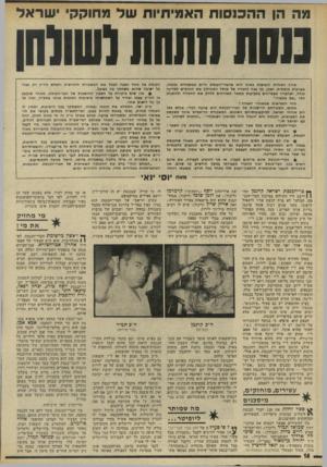 העולם הזה - גליון 1942 - 20 בנובמבר 1974 - עמוד 16 | אולם קרגמן הוא רק דוגמה להכנסה מתחת לשולחן של חברי־הכנסת. … הקבוצה השניה של חברי־הכנסת, הגדולה ביותר, מורכבת מחברי־הכנסת המוח זקים. … שכרם הרשמי של חברי־הכנסת