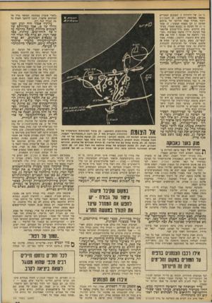 העולם הזה - גליון 1951 - 28 בינואר 1975 - עמוד 33   טי )34-של דיוריזיה .7הטנקים המצריים נמצאו בארבעה ריכוזים; 21 הנזסלינים רוכזו בעורף קצהו הדרומי של מיתחם חטיבה 11 וכן בקצהו הצפוני; 17 טנקי טי־ 34 של חטיבה ( 16