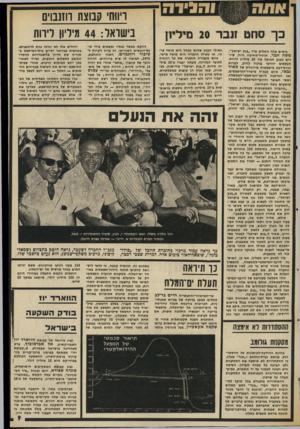 העולם הזה - גליון 2004 - 28 בינואר 1976 - עמוד 9 | כך סחט בימים אלה השלים נגיד ״בנק ישראל״, משה זנבר, תרגיל-סחיטה גדול, שיז־וים לבנק הכושל עוד 20 מיליון לירות. הכספים יוזרמו בניגוד לחוק, למרות חוות״דעת מישפטית