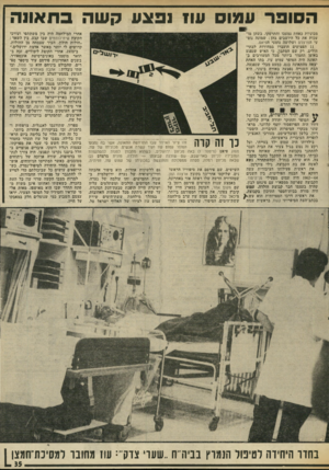 העולם הזה - גליון 2029 - 21 ביולי 1976 - עמוד 35 | הסופר עמוס עוז 1פצע קשה בחאו1ה מכוניות כאחת נמעכו והתרסקו, כשהן מועכות את כל היושבים בהן: שמונה נוס עי הנזרצדס ושלושה נוסעי הפיאט. 11 הפצועים הועברו במהירות