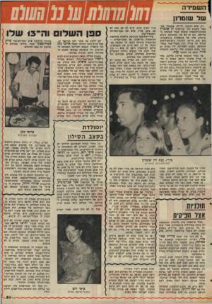 העולם הזה - גליון 2046 - 17 בנובמבר 1976 - עמוד 51 | השמירה של שומרו! רק שלא תחשבו, חלילה, שהבחור מתבטל. השבוע חזר תת־אלוף דן שומרון מסיבוב־הופעות מוצלח עבור הבונדס באירופה, וגם זה לא קל, בהתחשב בימים טרופים אלה
