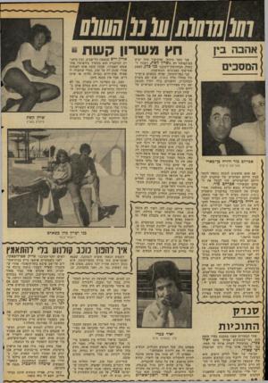 העולם הזה - גליון 2054 - 12 בינואר 1977 - עמוד 48 | אהבה בין אברהם מור ודליה בן־בארי מעריצה פרטית אם אתם מחפשים הוכחד. נוספת לקשר שבץ חייהם הפרטיים של שחקנים לבין חייהם המיקצועיים, קחו למשל את השחקן הפופולרי