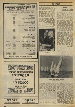 העולם הזה - גליון 2071 - 11 במאי 1977 - עמוד 43 | הוגה הרעיון היה אייבי נתן, שתחנת־השלום שלו שידרה את מהלך השיוט בשידור חי 31 .הסירות שנטלו בו חלק חיו מדגם לייזר, דגם זעיר הדומה במידותיו לדגם גלית. … את