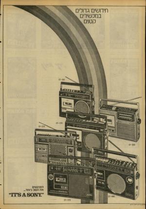 העולם הזה - גליון 2088 - 7 בספטמבר 1977 - עמוד 4 | חידודים גדולים במכשירים קטנים 60ו-ז0 303־?0 למבקשים את הטוב ביותר. 470־?ס פרסום מ 7ניק /רפא 7טי ר