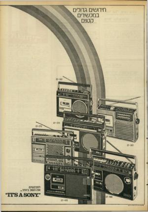 העולם הזה - גליון 2093 - 12 באוקטובר 1977 - עמוד 3 | חידושים גדולים במכשירים קט]ים - 160ז ס 0^-303 למבקשים א ת הטוב ביותר. - 470ז ס פרסום םתי 7ן /רפא 7טי ר