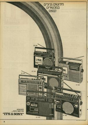העולם הזה - גליון 2094 - 19 באוקטובר 1977 - עמוד 3 | חידושים גדולים במכשירים קטנים -160 קס׳ ססס־קס למבקשים א ת הטוב ביותר £זנ 3 ^ 8 0ד מ ״ -470 זס פרסום מ7ני 7ן/רם א