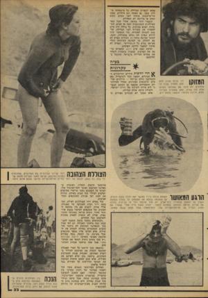 העולם הזה - גליון 2098 - 16 בנובמבר 1977 - עמוד 33 | פחתו לספורט הצלחלה. כל מיש&תתו צוללת עיע&ו, גם האשד. וגם והילדים. ממש היי־מישפחה !מתחת לפני המים! ,ושום תהום או מלתעה לא תפחידם. וכעבור שתר משעה, אחרי ישכל שאד