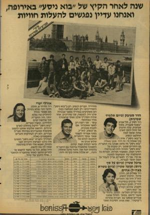 העולם הזה - גליון 2124 - 17 במאי 1978 - עמוד 27 | שנה לאחר הקיץ של ״בוא ניסע״ באירופה, ואנחנו עדיין נפגשים להעלות חוויות אריאל אורלי יערי מזהירה חברים לנסוע רק ב״בוא ניסע׳ והמדריכים! רק לשם המחשה כמה הם
