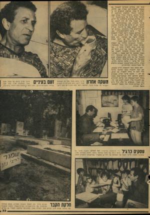 העולם הזה - גליון 2130 - 28 ביוני 1978 - עמוד 33 | עימו יחד. בודדים התחייבו להמשיך את מאבקו ולשבות־רעב אחריו אם, חלילה, יארע לו אסון. אסיפות קיבוצים דנו ב־שביתתו וקיבלו החלטות הקוראות לו לחדול מלצום. מישרדו