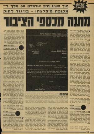 העולם הזה - גליון 2154 - 13 בדצמבר 1978 - עמוד 38   איר השיג ח״כ אודג9רט 80 אדך דיי׳ מקופת מיפלגרוו ־ בניגו ד דחוק ל ראש !הגנב בוער הכובע. ובכיס ? השקרן בוער הכסף. במאמץ לחפות על התמוטטות מערכת- השקרים שלו,