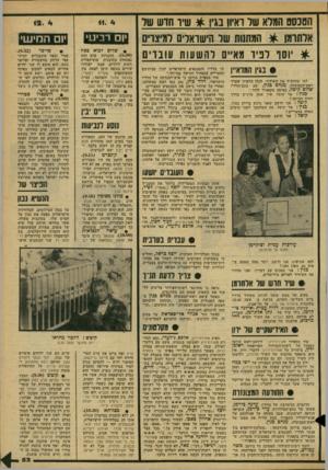 העולם הזה - גליון 2171 - 11 באפריל 1979 - עמוד 53 | הסנסם המלא שד רא*ון בגין ^ שיו חדש שד אדתומן * המתנות שד הישוארים דמיצוים * יוסד לפיד מאיים להשעות עובדי 0 #בגין ה>7וא״ן למי שהחמיץ את השידור, להלן הראיון שערך