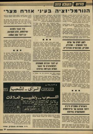 העולם הזה - גליון 2213 - 30 בינואר 1980 - עמוד 13 | •ח שוס מזה ה בעיני אזרח מצרי מאמרו סל ד״ר ממדוח תוופיק מקאהיר, התפרסם ב־ 16 בינואר 1980 ביומון הקאהירי ״אל־אחבאר״, במדור המקביל למדור ״פורום״ של ״העולם הזה״