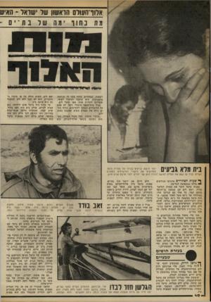 העולם הזה - גליון 2248 - 30 בספטמבר 1980 - עמוד 40   אלוד־העול הראשון של ישראל ־ ;1איש מיה 1ב הו ו ״ מ ו ׳! 11ל 1נ ת ־ י1ם [ לשחות. הבחורים בחוף עשו לו הנשמה מלאכותית. הוא הועבר לטיפול רפואי, והצליחו להחיות אותו.