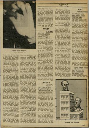 העולם הזה - גליון 2260 - 24 בדצמבר 1980 - עמוד 32 | במדינה העם הספ׳ רהלא חו ר בקצה הד.יגחרה של ממשלו; הליכוד נראה האדר. מה טיבו? בקצרה המינהרה נראה האור. הציבור הישראלי, שמאס בממשלתו הכושלת של הליכוד, התייחס