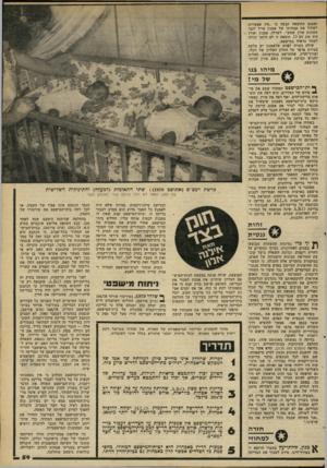 העולם הזה - גליון 2263 - 14 בינואר 1981 - עמוד 59 | ואמנם התוצאה קבעה כי ״אין אפשרות לשלול את אבהותו של אמנון אייל לגבי התינוק אורן שמש״ .לשולה, אמנון ואורן היה סוג דם ס. תוצאה זו לא היתה יכולה לעזור כראיה