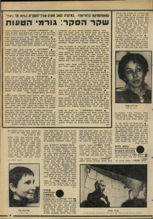 העולם הזה - גליון 2263 - 14 בינואר 1981 - עמוד 9 | סקר פופולריות של מוצריה בשני מכונים. אחד מהם היה מוכן שיתפרסם בשמו, כי 8070 מהלקוחות מרוצים ממוצרי החברה. השני היה מוכן שיתפרסם בשמו כי רק 1570 מרוצים. סיבת