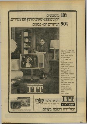 העולם הזה - גליון 2288 - 8 ביולי 1981 - עמוד 22 | 1030 מהאנשים הקונים -111 שאוב לורנץ הם עשירים. 901 הנותרים הם-נבונים. 111 שאוב לורנץ היא טלויזיה צב עונית יק ר ה, אולי גם היקרה ביותר בשוק. כולם יודעים כי 111