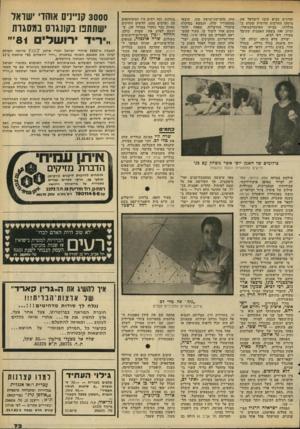 העולם הזה - גליון 2288 - 8 ביולי 1981 - עמוד 74 | והרגיש הביא עימו לישראל את מיטען התרבות הרוסית שקלט במולדתו, בביתו האינטלקטואלי, ומיזג זאת בשפת האמנות שקיבל ממורו, רפי לביא. יצירה שלא היתר. יכולה לה יות
