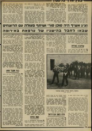 העולם הזה - גליון 2293 - 12 באוגוסט 1981 - עמוד 81 | הדבר לא עזר לו: הוא נהרג בידי הקיצוניים, שרצחו גם את שליח אש״ף בלונדון, סעיד חמאמי, שהיה הראשון שפתח במגעים. … בימים ש בהם היתה עיראק בעלת מגמה קיצונית, י היא