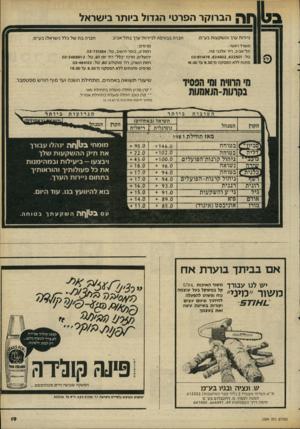 העולם הזה - גליון 2304 - 28 באוקטובר 1981 - עמוד 19 | הברוקר הפרטי הגדול ביותר בישראל ניירות ערך והש קעו ת בע״מ. חברה בבורסה לנ״רו ת־ערך בתל־אביב. חברה ב ת של כלל (ישראל) בע״מ. משרד ראשי : תל־אביב, רח׳ אלנב׳ , 113