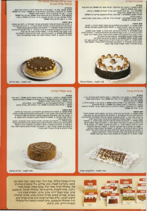 העולם הזה - גליון 2313 - 30 בדצמבר 1981 - עמוד 41 | חומרים: לבסיס העוגה 5 :ביצים 3/4 ,כוס סוכר, חבילה סוכר וניל אפיכל 3/4 ,כוס קמח קקאו תופח אפיכל, כף שמן. לפחזגיות 1/2 - 3/4 :בום חלב או מים 30 ,גר׳ מרגרינה