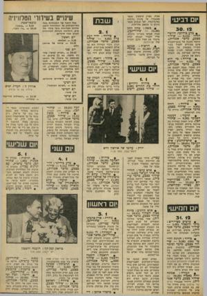 העולם הזה - גליון 2313 - 30 בדצמבר 1981 - עמוד 51 | יום רביעי 3 0 . 12 • מדע בידיוגי: חלוצי- החלל 6.15 שידור בצבע, מדכר אנגלית). תותחי ההגנה של כוכב־השביט אינם מסוגלים לפעול בקור השורר בטבעות של כוכב- הלכת
