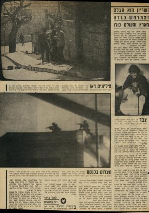 העולם הזה - גליון 2330 - 28 באפריל 1982 - עמוד 63 | ־ושריון! הוא ה צוו[ ־ ומתרחש :1ג ד1 הארץ והעול 10 כול1 כיוונו אותם. מכל עבר נשמעו כלפיהם צעקות. הם נראו מבוהלים, ושני הילדים פרצו בבכי. העיתונאים, וגם כמה