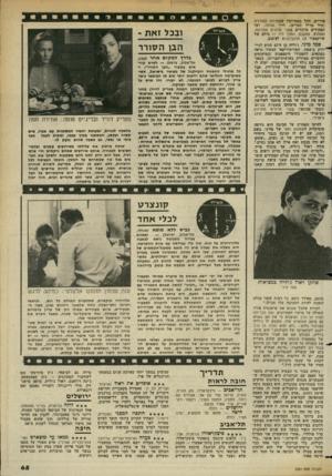 העולם הזה - גליון 2361 - 1 בדצמבר 1982 - עמוד 66 | סיריים, החל בפטרוקיו שבאילוף הסוררת (מול מריל סטרים) ,דדך אותלו, ועד תפקידים מרכזיים בשני אדונים מוורונה, האמלט, מאקבת, הנולך ליר — כולם של שייקספיר וגן