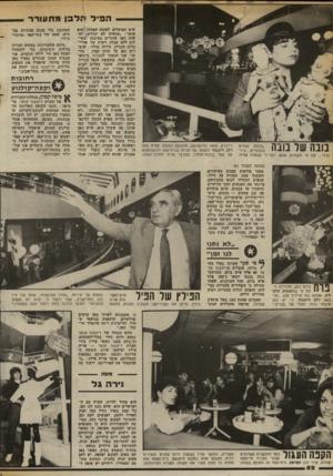 העולם הזה - גליון 2369 - 26 בינואר 1983 - עמוד 54   ה פי למל 3ן מ תעורר נובה של בונה ״בובות שתיים בובותייס ...צילי וגילי ...את מי משתיהן אוהב יותר?״ שואלת עמית שים הפועלים לטובת המרכז. הוא אומר :״אנשים לא יכולים