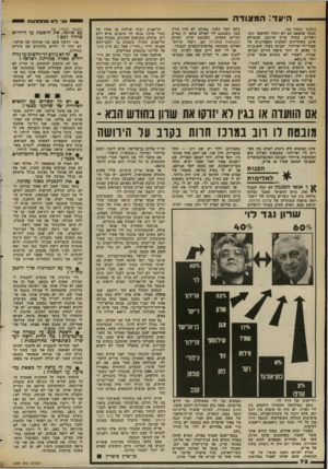 העולם הזה - גליון 2369 - 26 בינואר 1983 - עמוד 72   היעד: ה מ צודה (המשך מעמוד )68 הנחה שהפעם הם לא יוכלו להישאר ניטראליים, מקווה שרץ שרובם, שממילא אינם משתייכים למחנות המאורגנים של שמיר-לוי-ארידור, יצביעו בעדו.