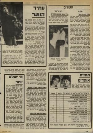 העולם הזה - גליון 2372 - 16 בפברואר 1983 - עמוד 64 | ספח־ט טניוס ע תי ד דודני כסף לז־׳יס, כסר תל־ א ב־כ 013*0ו מכסיך משתלם להיות ילד המשחק טנים מיק־צועי. לא רק בעולם. אפילו בישראל זוכים הילדים בשנים האחרונות