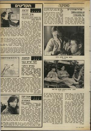 העולם הזה - גליון 2374 - 2 במרץ 1983 - עמוד 40 | מוסיקה צ לי לי מו ד רניי ם 1אץ כ קיווו ס ב״חומה״ עוד ,.פ* 33 בדויד׳, את הסרט החומה הציגו גניו־יורק לפני שישה חודשים, בבית־ר,קולנוע ה מפואר ביותר בעיר, על מסך