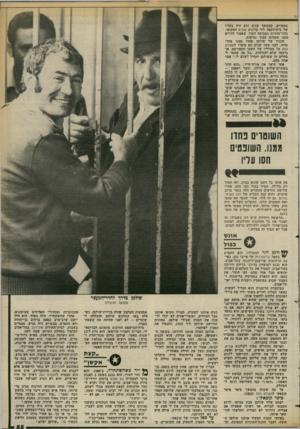 העולם הזה - גליון 2375 - 9 במרץ 1983 - עמוד 55 | מספרים, שבמשך שנים הוא היה בעליו של בית־הקפה ליד קולנוע שביט המקומי. נהגי־מוניות בסביבה למדו, שאסור לדרוש סמנו תשלום עבור נסיעות. שכניו של שולמן פחדו ממנו