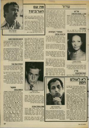 העולם הזה - גליון 2384 - 11 במאי 1983 - עמוד 68 | שידור צליש שוב — .מבטלחד שו ת־ • לעורך־החדש והזמני של מבט מיכאל קרפין, על מהדורת־החרשות בשבוע הראשון שבעריכתו. בניגור לכל הציפיות הצליח קרפין לרענן את מהדורות