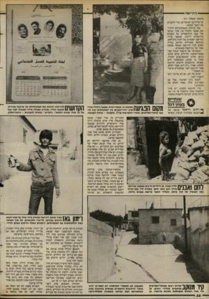 העולם הזה - גליון 2389 - 15 ביוני 1983 - עמוד 32 | — יי דהיי ש ה (המשך מעמוד )13 על כלי־רכב ישראליים, וכרי להעניש את יושבי המחנה. כבר מרחוק, כשמתקרבים לרהיי־שה, אפשר להבחין בה. אחרי נסיעה של כמה קילומטרים על