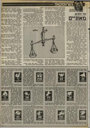 העולם הזה - גליון 2405 - 5 באוקטובר 1983 - עמוד 34   הורוסהוס * לעיתים קרובות נשאלת השאלה, מהי * הסיבה לכך שבני אותו מזל יכולים להיות * שונים מאוד האחד מהשני. במדור זה הוזכר * לא אחת שהסיבה לכך נעוצה, בשעה, בשנה