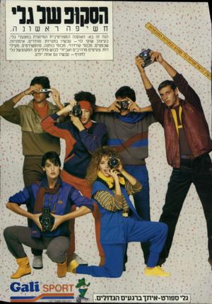 העולם הזה - גליון 2407 - 19 באוקטובר 1983 - עמוד 71 | הסטפטלנל• חשיפה ראשונה. הנה זה בא: האופנה הספורטיבית המיוצרת במפעלי גלי, בעיצוב שוקי לוי -עכשיו בחנויות: סוודרים, אימוניות, שכפציס, מכנסי קורדרוי, מכנסי כותנה,