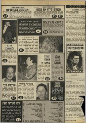 העולם הזה - גליון 2408 - 26 באוקטובר 1983 - עמוד 3 | מכחבים ארידולר ואינפלציה המיכתבים הבאים נכתבו אחרי התפטרותו של שר־האוצר, יורם ארידור. הרעיון של דולריזאציה של ישראל דווקא נראה לי. הדולר הוא מטבע בינלאומי,