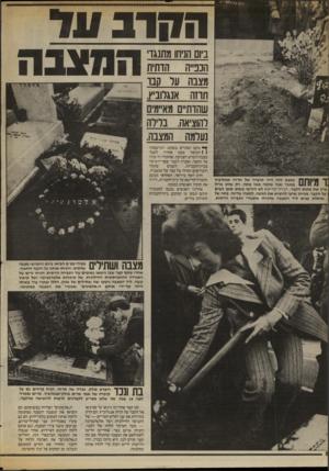 העולם הזה - גליון 2417 - 28 בדצמבר 1983 - עמוד 52 | החרב ונד במצב הזה היה קיברה של תרזה אנגלוביץ ! 11111 /במשך שנה שלמה מאז מתה. רק שלט ברזל ציין את מקום הקבר. חברה־קדישא לא הירשו בשום אופן לשים על הקבר, מכיוון