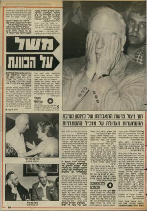 העולם הזה - גליון 2426 - 29 בפברואר 1984 - עמוד 15 | הציר יצחק נבון — ישראל קיסר נראה לרבים מושר ביותר, מיז מיצרד הקלף הענימי ^ ולי קל לשנוא את משל, אבל הוא איננו יריב קל. … הוא ייאלץ לקיים את הבטחתו עתיקת־היומין